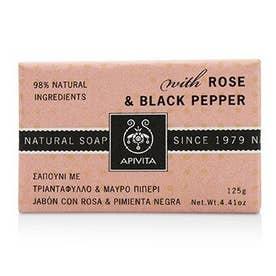 ボディウォッシュ 125g ナチュラル ソープ With ローズ & ブラック ペッパー