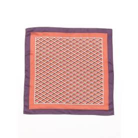 グリッドスカーフ (オレンジ)