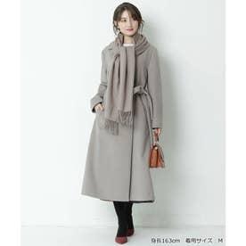 ファーマフラー付ベルテッドコート (モカ)