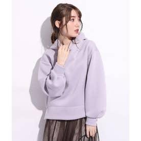 コクーン袖フードプルオーバー (薄紫)
