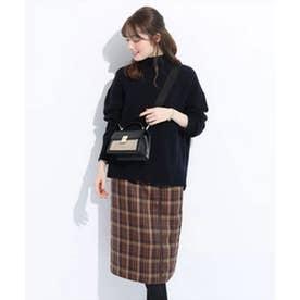配色パイピングタイトスカート (赤)