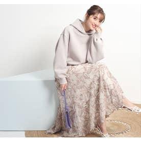 エアリー刺繍ロングスカート (モカピンク)