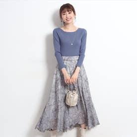 エアリー刺繍ロングスカート (ダスティー)