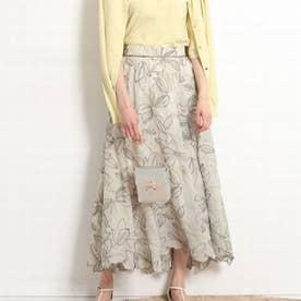 エアリー刺繍ロングスカート (黄緑)