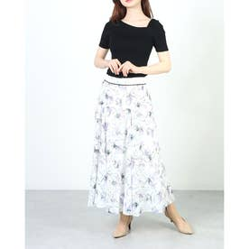 シアープリントスカートセット (薄紫)