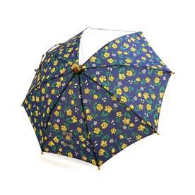 お花柄傘 (ネイビーブルー)