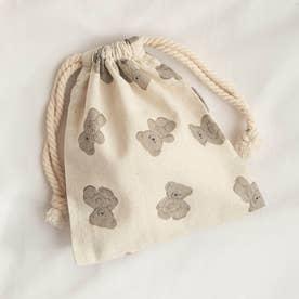 tiny bear(タイニーベア) 巾着 (ブラウン)