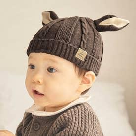 バンビベビーニット帽 (ブラウン)