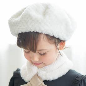ぽこぽこファーベレー帽 (アイボリー)