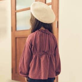 バックリボンシャーリングTシャツ (ピンク)