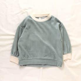 WEB限定 ベロアTシャツ (サックス)