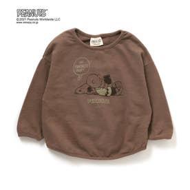 PEANUTS(ピーナッツ)2柄Tシャツ (ブラウン)