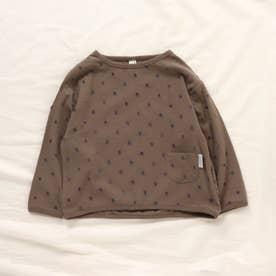ドットジャガードTシャツ (ブラウン)