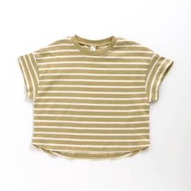 ビッグシルエットボーダーTシャツ (マスタード)