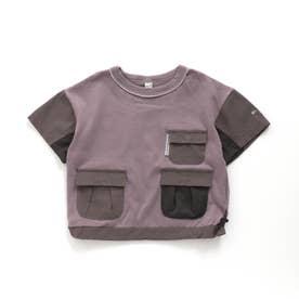 マルチポケットTシャツ (ブラウン)