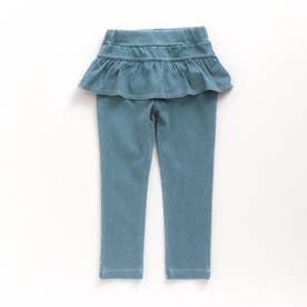 ペプラム | 7days Style パンツ  10分丈 (サックス)