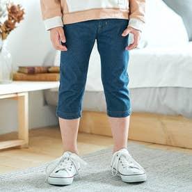 デニムニット | 7days Style パンツ  7分丈 (ブルー)