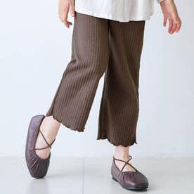 ジャガード/7days Style pants_10分丈  10分丈 (ブラウン)