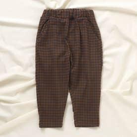 ゆったりテーパードパンツ/7days Style pants_9分丈  9分丈 (ブラウン)