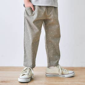ゆったりテーパードパンツ/7days Style pants_9分丈  9分丈 (ドット柄)