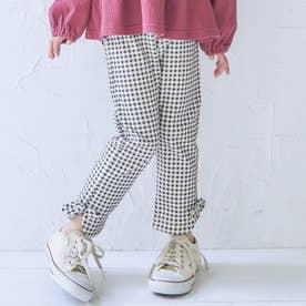 WEB限定 裾リボン/7days Style pants_9分丈 (チェック柄)