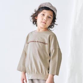 リラックスロゴTシャツ (ベージュ)