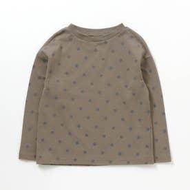 4色総柄Tシャツ (ブラウン)
