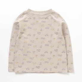 4色総柄Tシャツ (ベージュ)