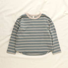 リラックスボーダーTシャツ (サックス)