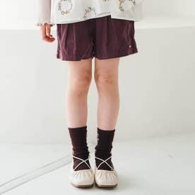 サイドリボンショートパンツ ショート丈 (ブラウン)