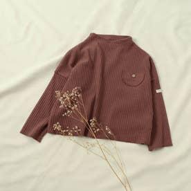 WEB限定  リブTシャツ (ブラウン)