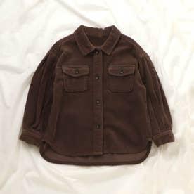 コーデュロイシャツ (ブラウン)