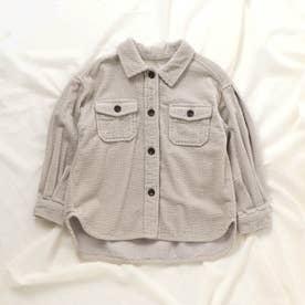 コーデュロイシャツ (アイボリー)