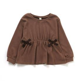 WEB限定 リボンTシャツ (ブラウン)