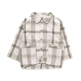 2柄チェックシャツ (グレー)
