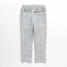 ウエストフリル/7days Style pants_10分丈 (サックス)