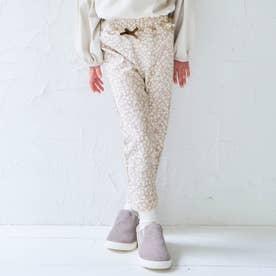 ウエストフリル/7days Style pants_10分丈 (ベージュ)