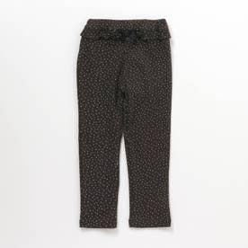 ウエストフリル/7days Style pants_10分丈 (チャコール)
