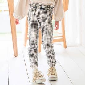 ウエストフリル/7days Style pants_10分丈 (チェック柄)