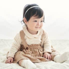 お花刺繍ブルマ付きスカート (ベージュ)
