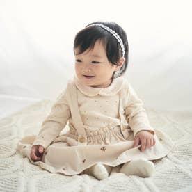 お花刺繍ブルマ付きスカート (アイボリー)