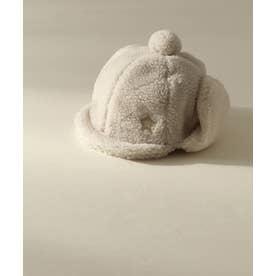 ボアベビー帽子 (ベージュ)