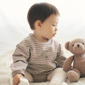 tiny bear(タイニーベア) ボディスーツ (ボーダー柄)