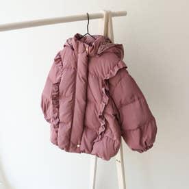 肩フリルダウンジャケット (ピンク)