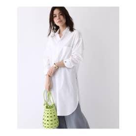 ◆MADISONBLUE スリットロングシャツ (ホワイト(001))