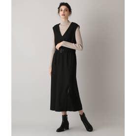 ベルテッドジャンパースカート (ブラック)