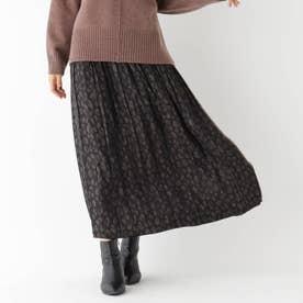 リバーシブルギャザースカート (ブラック)