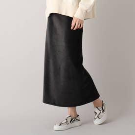 【洗える】ストレッチコーデュロイタイトスカート (チャコールグレー)