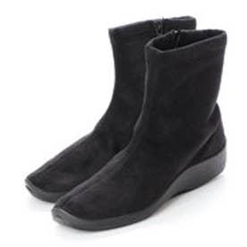 SHORT BOOTS  ショートブーツ (ブラック(スウェード))