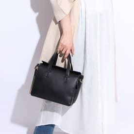 【COOCO】2WAYマルチポケット付きショルダーバッグ (黒合皮スムース)